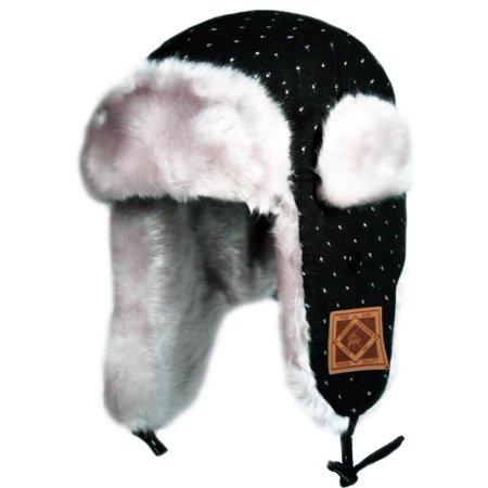 c59695dd8f1 City Hunter W490 Premium Dot Bomber Trapper Hat (Black white ...