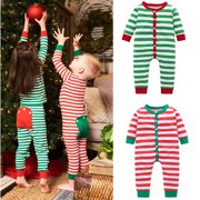 Cute Baby Girls Boys Christmas Pajamas Set Kids Sleepwear Nightwear Outfits