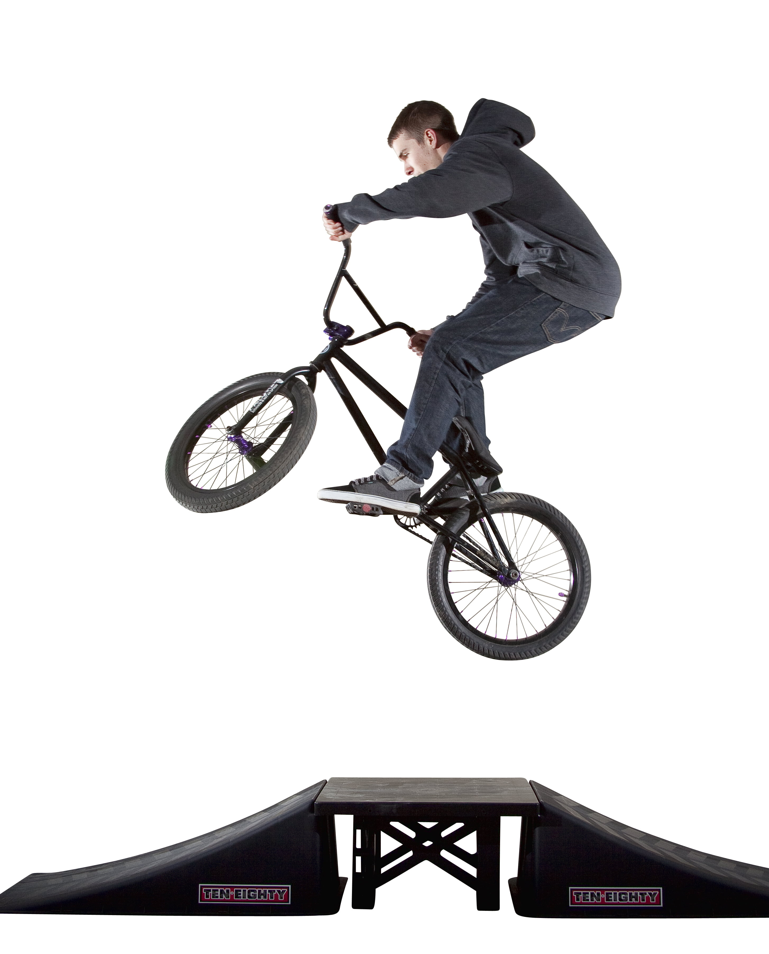Ten Eighty Launch Ramp for Scooter Skateboard Bike Inline Skate Riders Safety