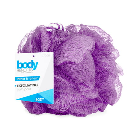 Bath Sponge - Body Image Body Benefits Exfoliating Bath Sponge, Purple color