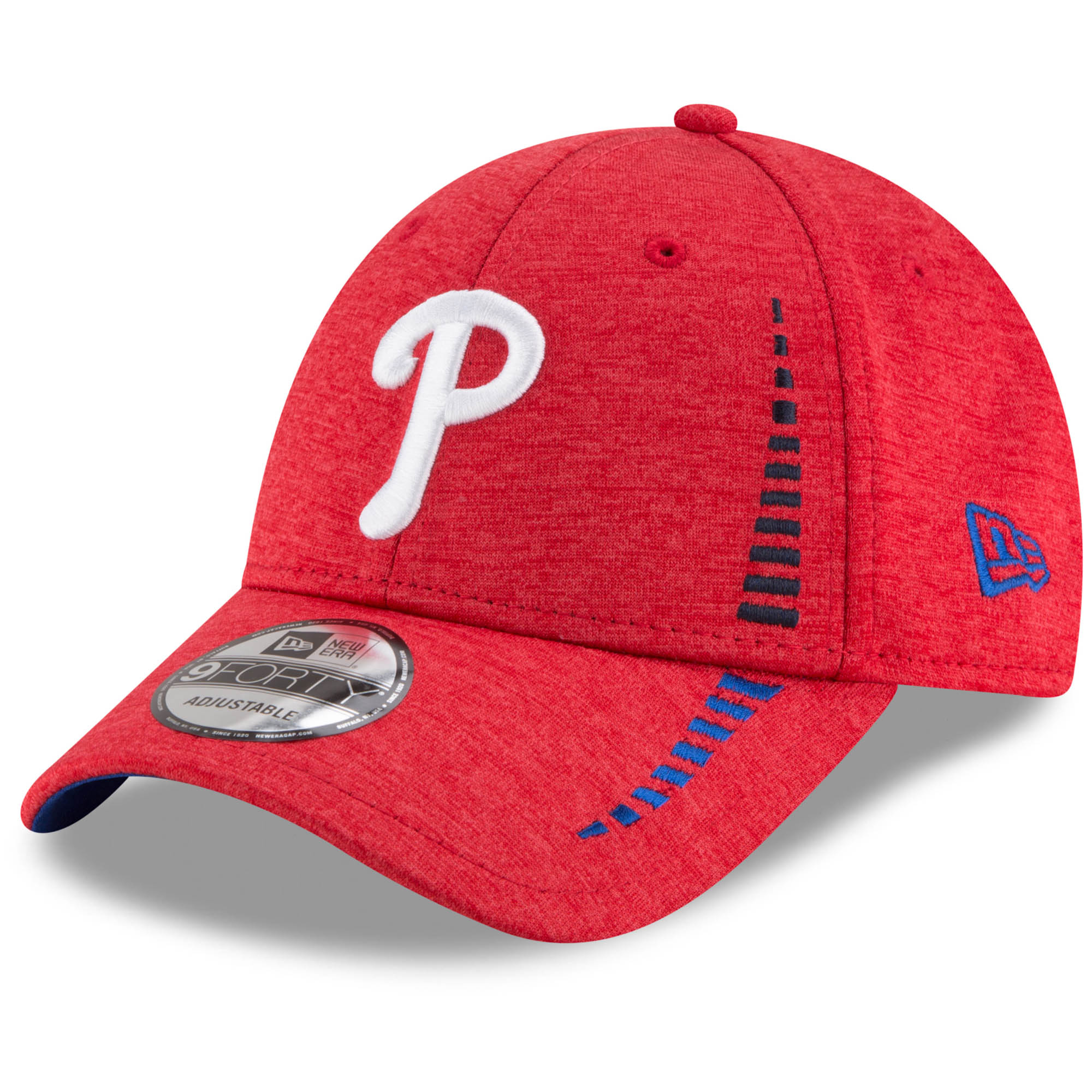 Philadelphia Phillies New Era Speed Shadow Tech 9FORTY Adjustable Hat - Red - OSFA