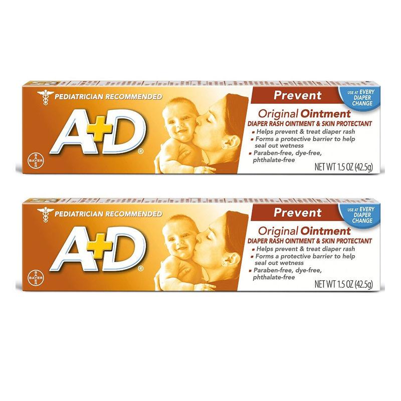 2 X A+D Original Ointment, Diaper Rash & Skin Protectant, 1.5 oz Tube