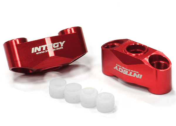 Integy RC Toy Model Hop-ups T3556RED Billet Machined T2 Knuckle Axle Carrier (2) for 1 16... by Integy