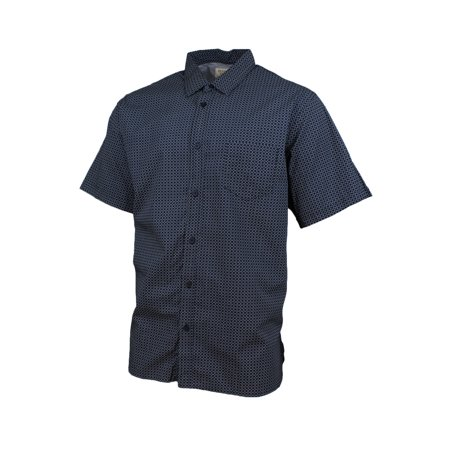 - Hudson River Mens Heritage Classic Fit Button Down Shirt (Navy Pattern, X-Large)