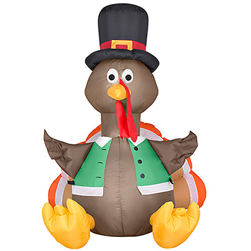 Thanksgiving Airblown Inflatable Small 3.5 ft. Happy Turkey