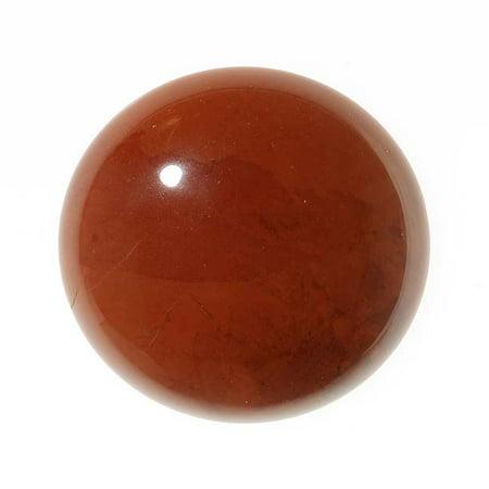 Red Jasper Gemstone Round Flat-Back Cabochons 25mm (1 Piece)