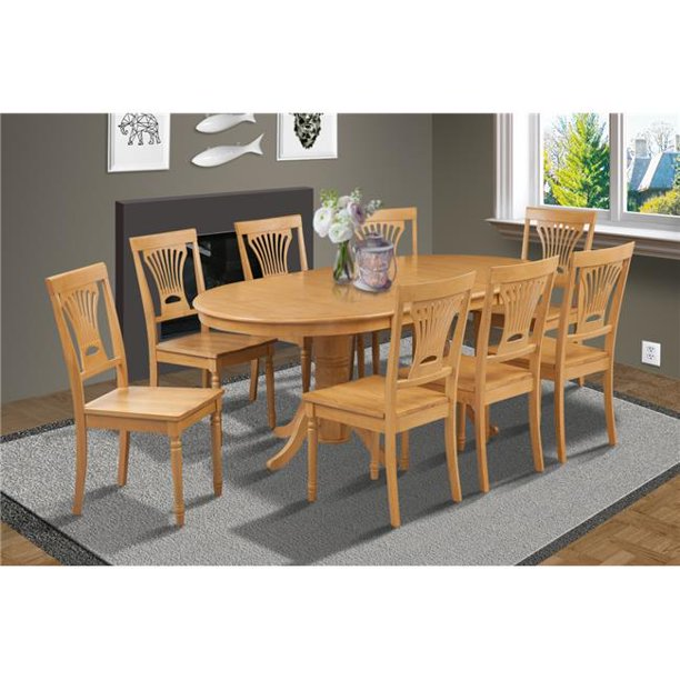 M&D Furniture SOME9 OAK W 9 Piece dining room set table ...
