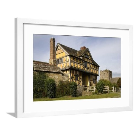 Stokesay Castle, Example of 13th Century Fortified Manor, Ludlow, Shropshire, United Kingdom Framed Print Wall Art