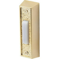 Everyday Lighted Door Chime Button, Brass