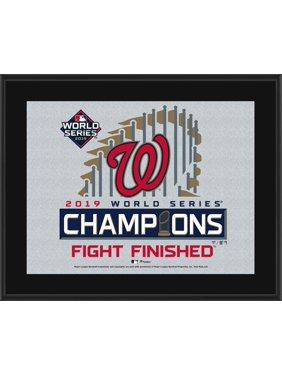 "Washington Nationals 2019 World Series Champions 10.5"" x 13"" Sublimated Plaque"