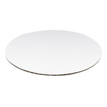 Vineland 12759 9 in. Corrugated Circle Top, White - Case of (Vineland Mall)