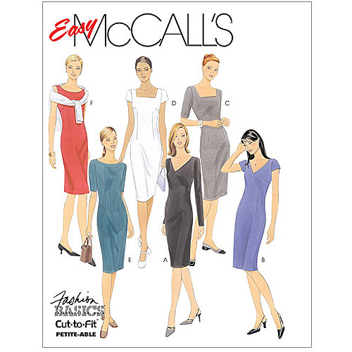 McCall's Pattern Misses' Dresses, B (8, 10, 12)