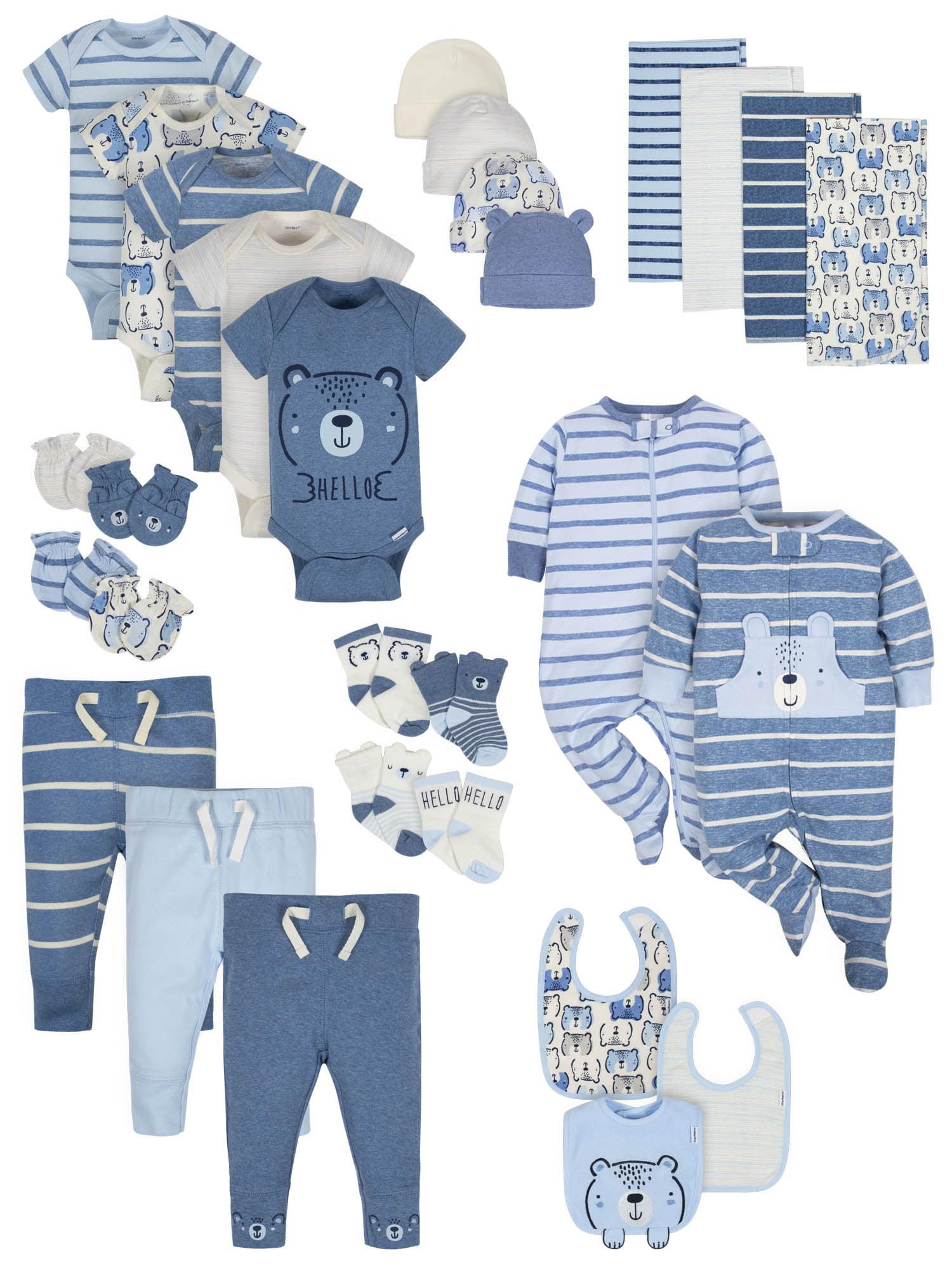 Pants /& Bibs Bundle Size 3-9M Gerber Baby Boy 11-Piece Sport//Firetruck Onesies