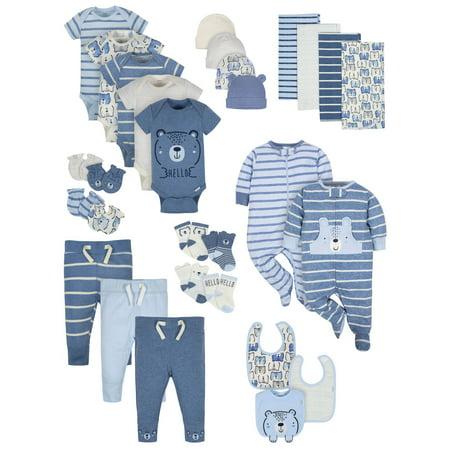 Gerber Organic Cotton Baby Shower Layette Gift Set, 29pc (Baby (Cotton Layette Set)