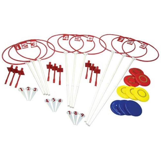Olympia Sports GA540M 9 Hole Outdoor Disc Golf Set by Olympia Sports