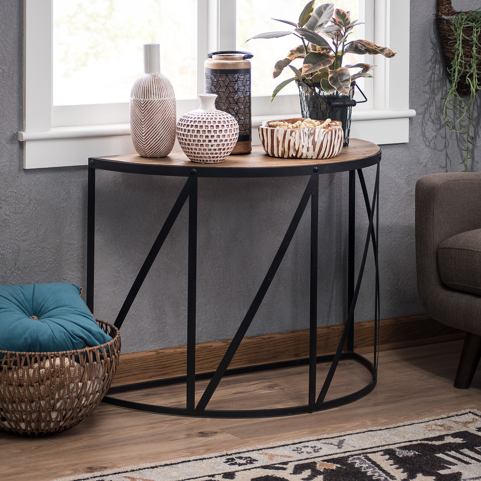 Belham Living Allen Reclaimed Wood Console Table