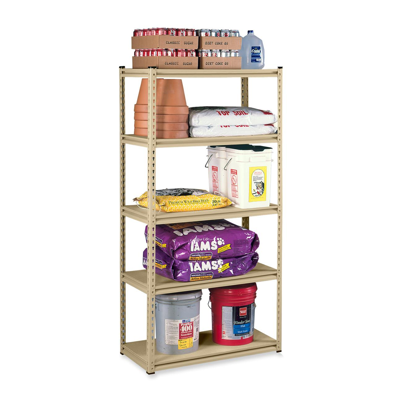 Tennsco, TNNLSS482484SD, Stur-D-Stor Steel Shelving, 1 Each, Sand