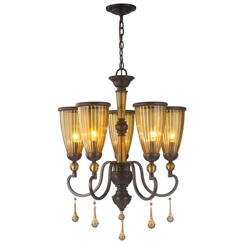 World Imports Amber Marie 5 Light Chandelier