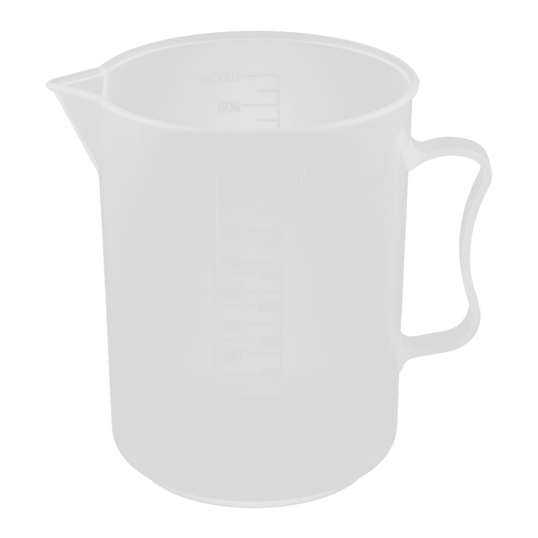 Laboratory Plastic Water Liquid Graduated Measuring Cup Clear White 1000ml by Unique-Bargains
