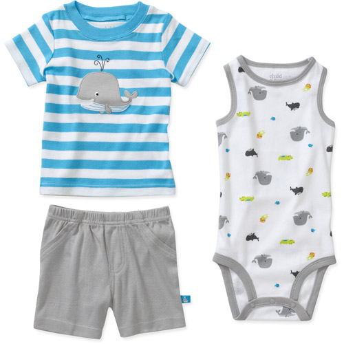 Child of Mine by Carters Newborn Boys 3 Piece Whale Shirt