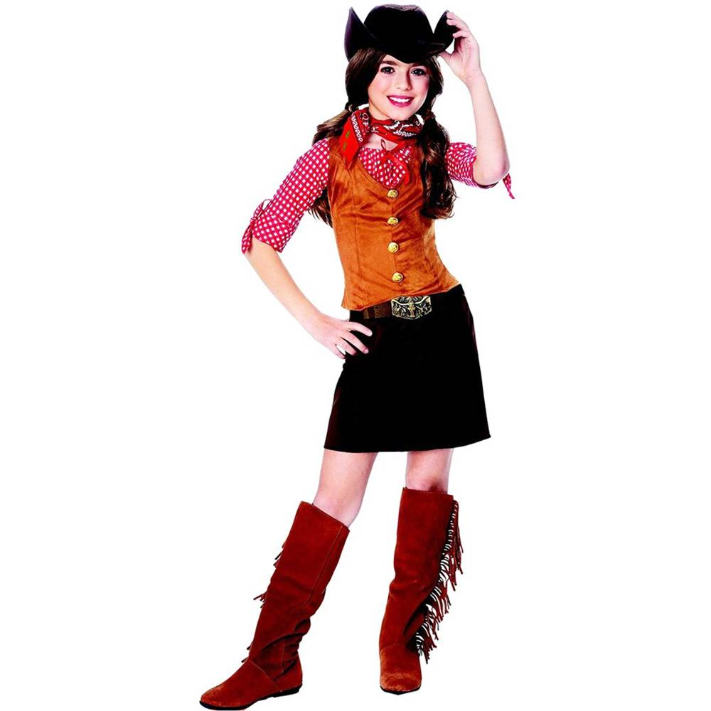 Gunslinger Cowgirl Kids Costume