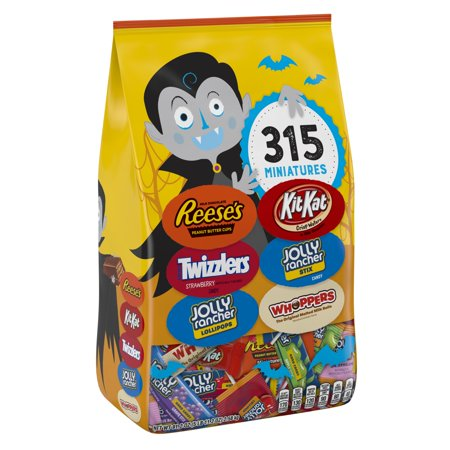 Hershey, Halloween Candy Snack Size Assortment, 91.2 Oz, 315 Ct - Reese Pieces Halloween Size