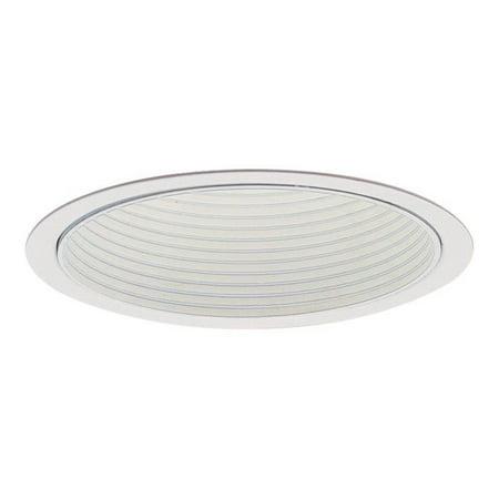 Lightolier 1005WH 5 Inch Down Light White Step Reflector Baffle Trim Round Lytecaster
