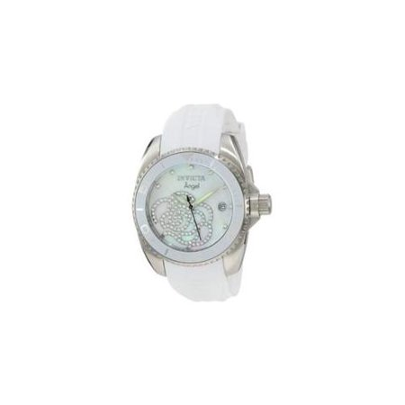 Invicta 0486 Women's Angel Stainless Steel Mother Of Pearl Dial White Watch
