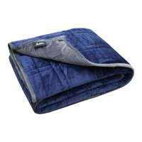"""Ultra Plush Pine & River Weighted Blanket -   Minky Warm Luxury - (36""""x48"""", 5 lb)   One Piece Construction   Blue/Gray (Perfect for 40 lb Individual)"""