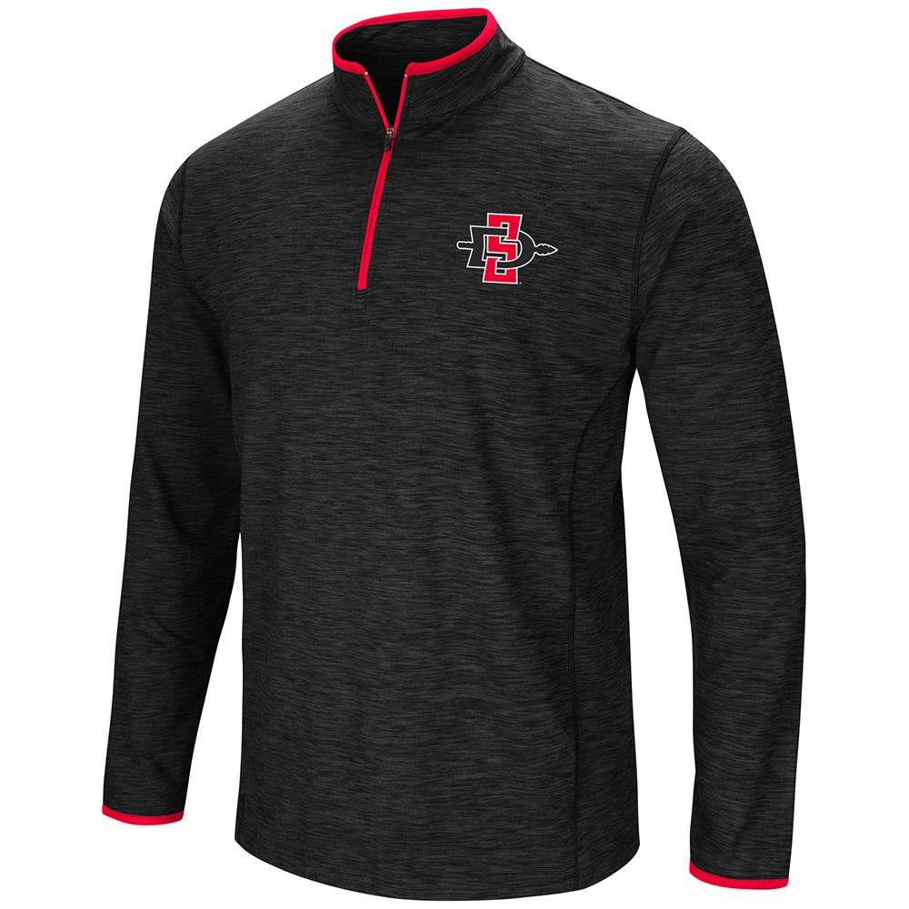 Mens San Diego State Aztecs Quarter Zip Wind Shirt - S