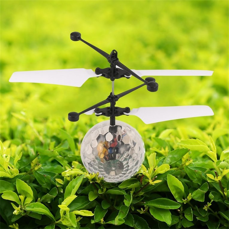 Transparent Remote Control Flying Crystal Ball Led Flashing Light Infrared Induction... by