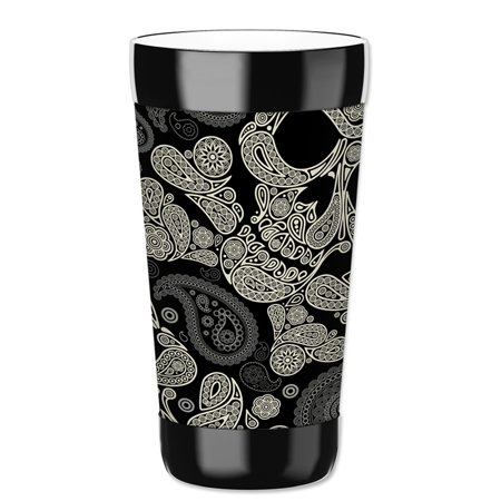 Mugzie 16-Ounce Tumbler Drink Cup with Removable Insulated Wetsuit Cover - Paisley - Skull Halloween Tumblr