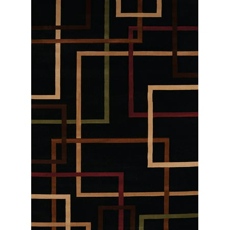 Contemporary City Walk Area Rug in Onyx (3 ft. L x 1 ft. 10 in. W)