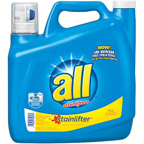 All 2x Ultra Stainlifter Liquid Laundry Detergent, 150 oz