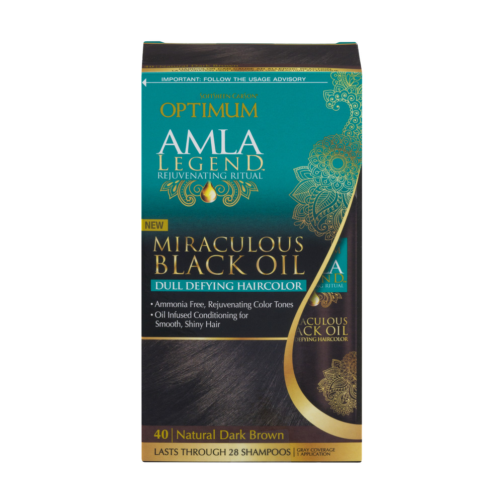 SoftSheen Carson Optimum Amla Legend Dull Defying Haircolor 40 Natural Dark Brown, 1.0 KIT