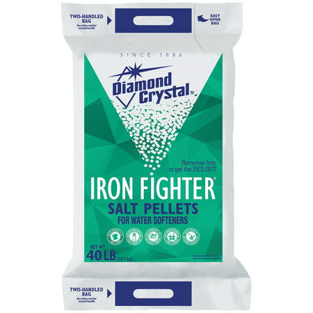 Diamond Crystal® Iron Fighter® Salt Pellets for Water Softeners 40 lb. Bag ()