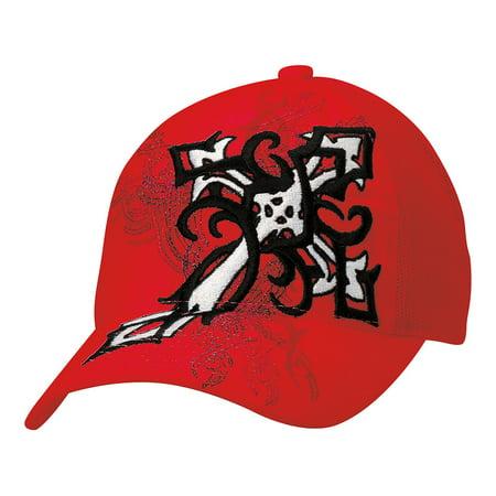 - Blazin Roxx Women's Flexfit Cross Graphic Design Cap Red OS