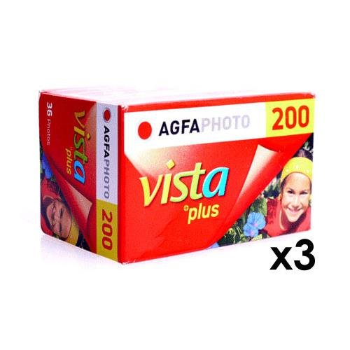 Agfa Photo Vista Plus 200 Flexible Color Film, 3 Pack 135-36 Exposure by AgfaPhoto