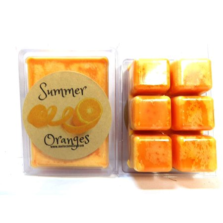 Summer Oranges -3.2 Ounce Wax Tarts - Scent Brick, Wickless Candle