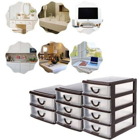 Plastic Transparent Drawer Organizer Home Kitchen Board Divider Makeup Storage Boxes - image 1 of 8