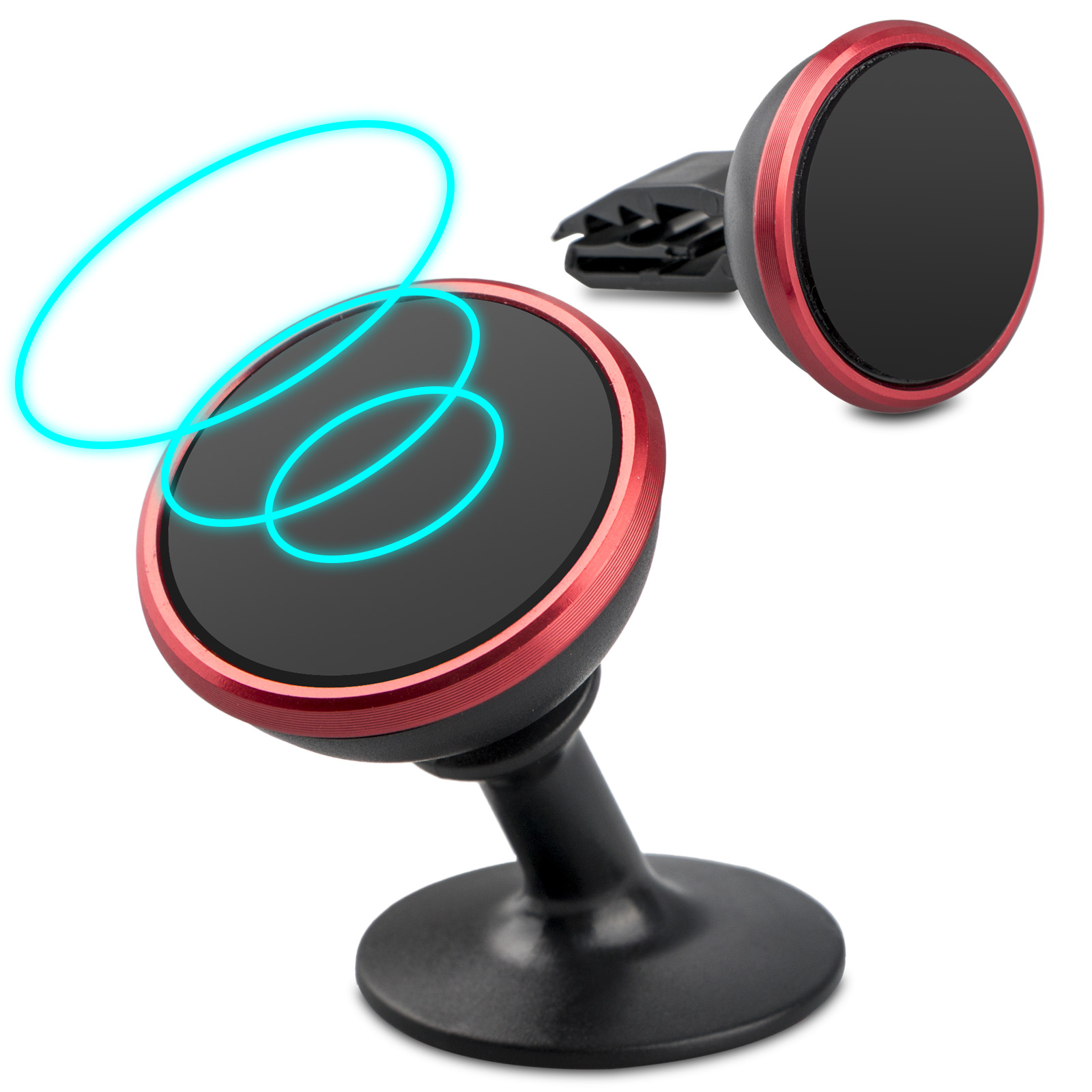 Universal Magnetic Cell Phone Holder for Car, Upgraded 360 Degree  Magnetic Car Phone Mount for Dashboard Tablet GPS iPhone X 8 7 Plus Samsung Note 8 Galaxy S8 Plus S7 Edge and More