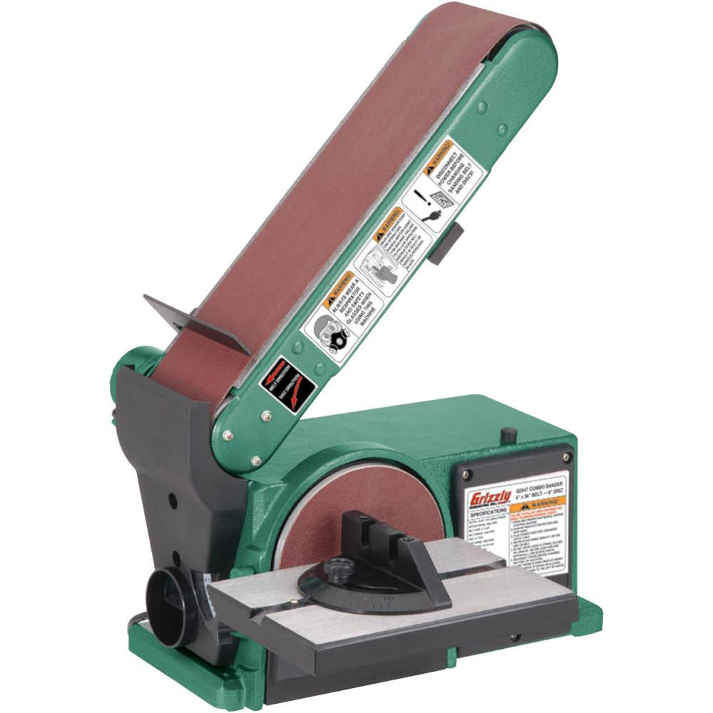 """Grizzly G0547 Combo Sander 4"""" x 36"""" Belt 6"""" Disc by"""