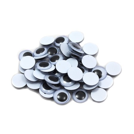 WIGGLE EYES ROUND 15MM BLACK 50CT (Wiggle Eyes Bulk)