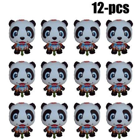 12Pcs Party Balloon Decor Cartoon Panda Birthday Balloon Party Animal Balloon Party Decoration Balloon for $<!---->