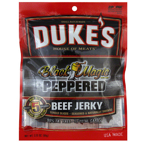 Duke's House Of Meats Black Magic Peppered Beef Jerky, 3.15 oz, (Pack of 8)