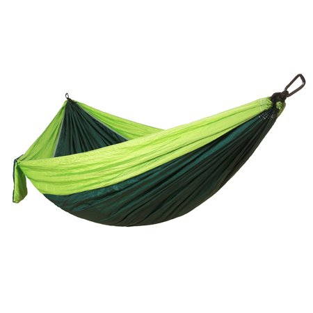Camping Double Hammock Easy Hanging Green Lime with Tree Strap 660lbs Capacity - image 6 de 6