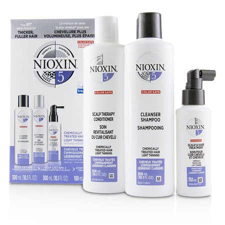 Nioxin 3D Care System Kit 5 - For Chemically Treated Hair, Light Thinning  3pcs Hair Care System
