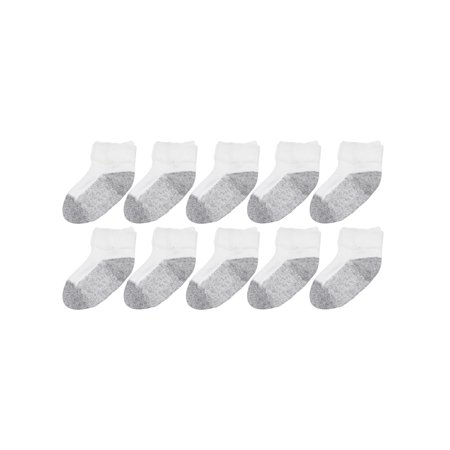 Garanimals Athletic Ankle Socks, 10-pack (Baby Boys & Girls & Toddler) ()