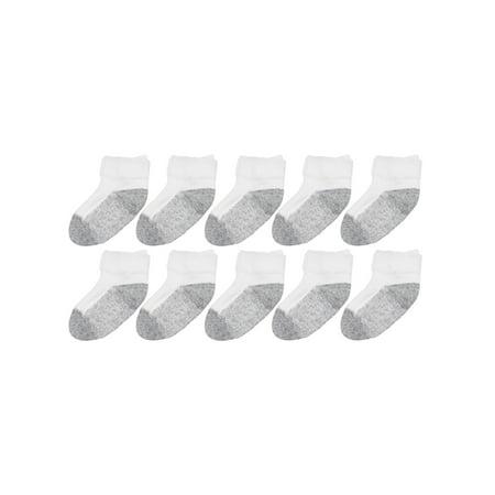Garanimals Athletic Ankle Socks, 10-pack (Baby Boys & Girls & Toddler)](Robin Socks)