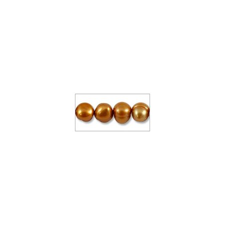 Freshwater Potato Pearls Copper Mix 5-6mm (16